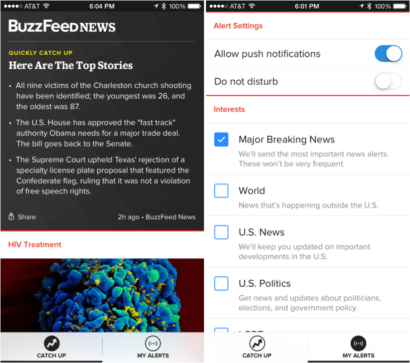 BuzzFeed Launches News App